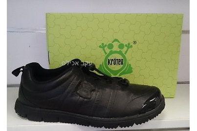 נעלי הליכה קלות של חברת Kroten - עור שחור M3211