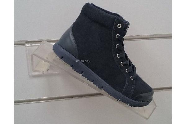 נעלי הליכה לנשים KROTEN 3/4 דגם W3276 עור נובוק כחול כהה