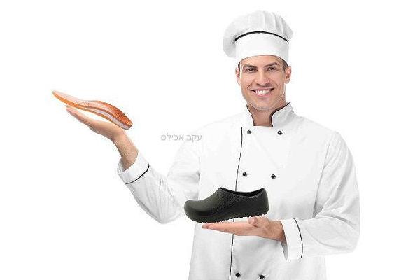 מדרסים לנעלי טבחים ולעובדי מטבח (לפי מידות גבס)