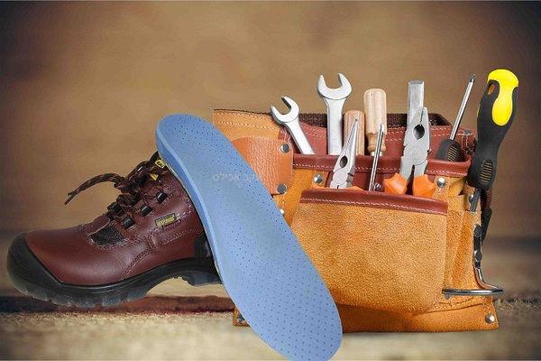 מדרסים אורטופדיים לנעלי עבודה ממוגנות ולנעלי בטיחות (לפי מידות גבס)