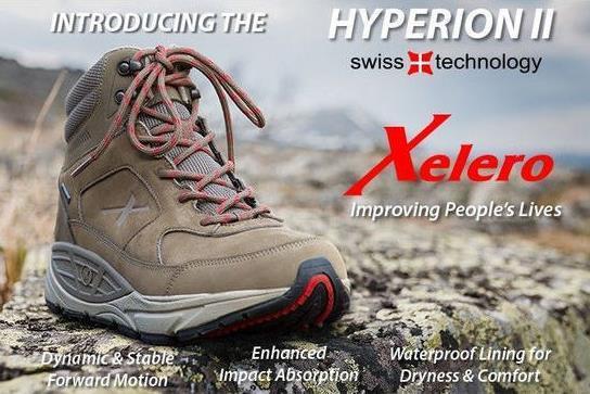 נעלי טיולים והליכה אורטופדיות גבוהות היפיריון של חברת קסלרו - Xelero Hyperion