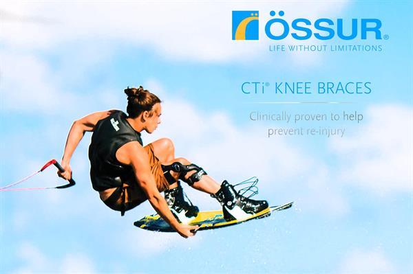 מייצב ברך עם צירים ® CTi של חברת Össur