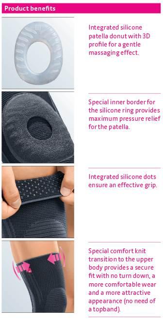 יתרונות תומך ברך עם טבעת סיליקון גנומדי